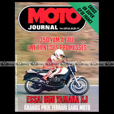 MOTO JOURNAL N°459 ANDRE MALHERBE YAMAHA 350 RDLC XJ 650 KAWASAKI Z 650 '80