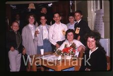 1963 Kodachrome Photo slide Teenage Boys and Girls