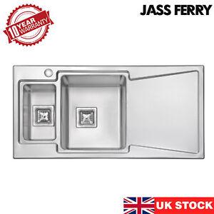 JASSFERRY New Premium 1.2mm Stainless Steel Kitchen Sink 1.5 Bowl 1000x500 mm