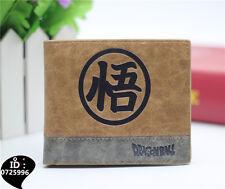 Dragon Ball Z DBZ wallet anime Goku coin super Saiyan leather bifold purse new