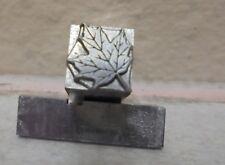Letterpress Press Printing Block Dingbat Maple Leaf