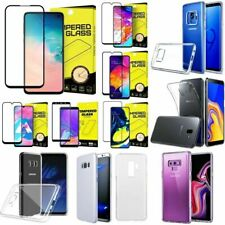 für Samsung Galaxy Silikon Hülle Case optional 5D / 3D / Schutzglas Panzerfolie