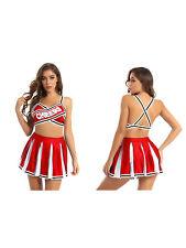 Women's Cheerleading Fancy Dress Outfit Musical Uniform High School Costume