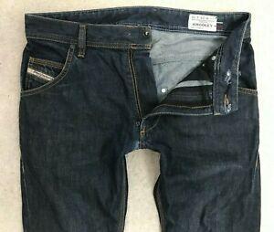 Diesel Krooley Slim Carrot Fit Denim Jeans Mens W28 (30) L30 Dark Blue Straight