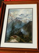 Thomas Moran Framed Landscape SUMMIT OF THE SIERRAS Chicago Art Museum Print