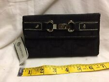 Trevisio Black Wallet with Silver Buckle