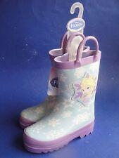 Disney's Girls Frozen Elsa Snowflake Rain Boots Purple, Size 6