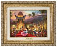 Thomas Kinkade Studios Mickey and Minnie In Hollywood 9x12 Canvas Classic Framed