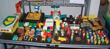 Huge Lot Of Vintage Fisher Price Little People, Castle,Plane, toys & accessories