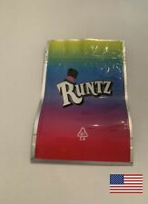 RUNTZ MYLAR PACKAGING 3.5g Empty Bags RESEALABLE USA PRIORITY SHIPPING