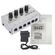 HA400 4 Channel Audio Stereo Headphone Amp Amplifier 110-240V for Music Mixer