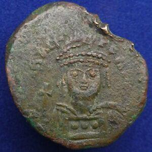 BYZANTINE EMPIRE; Heraclius. 610-641. AE follis Cyzicus mint,