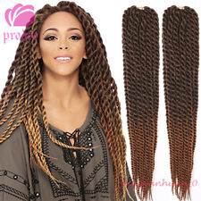 """3 Pack 22"""" Ombre Brown Havana Mambo Twist Crochet Braid Synthetic Hair Extension"""