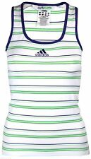 adidas adipure Climalite Striped Top Sleeveless vest Fitness Gym UK 8 - 10