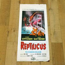 REPTILICUS locandina poster Horror Sci FI Godzilla Copenaghen Denmark AJ34