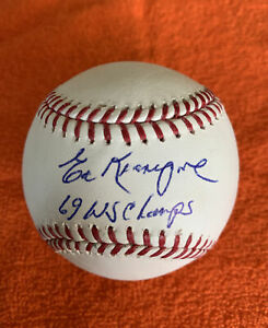 ED KRANEPOOL 69 WS Champs  Signed  Major League Baseball With Holo COA  NY METS