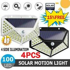 100-LED Solar Power Light PIR Motion Sensor Garden Security Wall Lamp