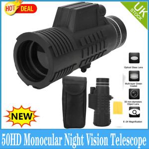 50X60 Monocular Spotting Spotter Bird Watching Telescope Pocket Scope Outdoors