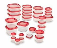 Rubbermaid Easy Find Lids Food Storage Container, 60-piece Set, Red New