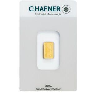 C. Hafner Goldbarren 2g 999 Feingold in Coincard - Von Gold & Silber Karway