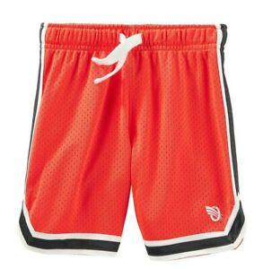 Osh Kosh  or Carters Little Boys Mesh Shorts NWT Blue Gray Orange Black 4 or 7