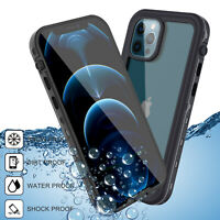 For iPhone 12 Pro Max 12 Mini Waterproof Clear Case Protective Cover Shockproof