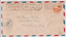 (YAD-8) 1941 USA 6c PSE WWII opened by censor 089