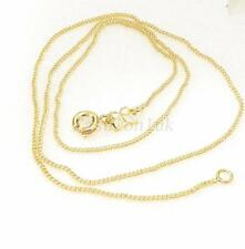 Unisex New 14K Yellow Gold Plated Necklace Chain 45cm Classic Small Spring Clasp