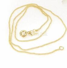 Unisex NUOVA 14k giallo oro placcato collana Chain 45cm Classic piccola FIBBIA a Molla