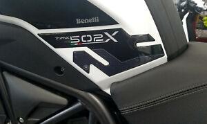 2 protezioni laterali serbatoio in gel 3D compatibili per moto Benelli TRK 502 X