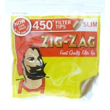 NEW 1X, 5X, 10X 450 ZIG ZAG SLIM FILTER TIPS RESEALABLE BAG SMOKING CIG GIFTS