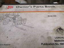 JCB .526 Loadall Parts Book Manual