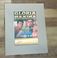 Chavez vs De La Hoya Matted Poster w/Certificate  ltd15000 may 20, 1996
