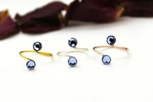 Adjustable Toe Rings Choose a Finish made with Light Sapphire Swarovski Elements