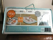 2 in 1! Travel Simple Bed And Play Mat with overhead toy bar. Compact Fold