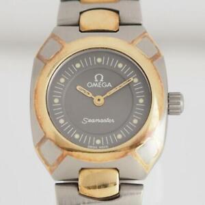 Omega Watch Seamaster Polaris YG / Titanium Ladies Quartz Gray dial