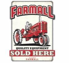 Farmall Quality Equipment Sold Here Die-cut Embossed Tin Sign