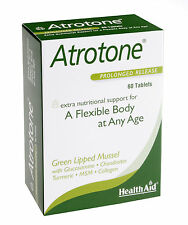PACK OF SIX Health Aid Atrotone (Green Lipped Mussel, MSM, Collagen) - 60 tabs