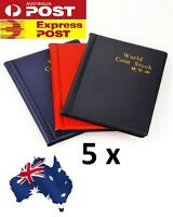 5 X OZ Holder 120 Coins Collection Album Storage Money Penny Book Collecting