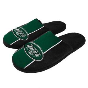 New York Jets NFL Men's Logo Stripe Slippers, Size XL (13/14) - New With Tags
