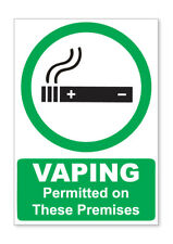 2 X VAPING PERMITTED STICKERS CAR VAN LORRY TAXI HGV