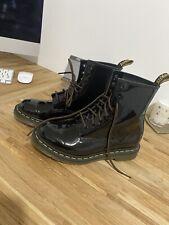 Dr Martens Womens 1460 Patent Boots Size 6 Balck