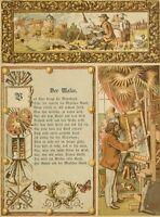 Berufsillustration, Der Maler, 1. Hlft. 19. Jhd., Chromolith.