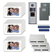 """Multi Tenant Home Security Video Intercom System Kit with (15) 7"""" Color Monitors"""