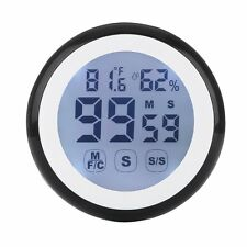 Digital Kitchen Timer Magnetic Thermometer Hygrometer Alarm clock LCD Display