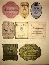 """LABELS ONLY Apothecary Potion Bottles Harry Potter Party Prop 3"""" Unique Custom"""