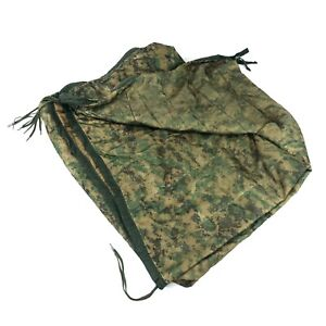 USMC Zippered Poncho Liner Woobie Blanket MARPAT Camo Tactical USGI DEFECT