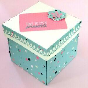 Handmade Happy Birthday Explosion Gift-Present Box with Lid