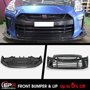 Carbon Fiber + FRP TS Style Front Bumper & Front Lip Kit For MY17 Nissan R35 GTR