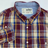 Urban Pipeline Button Up Shirt Mens XXL Multicolor Plaid Long Sleeve Casual